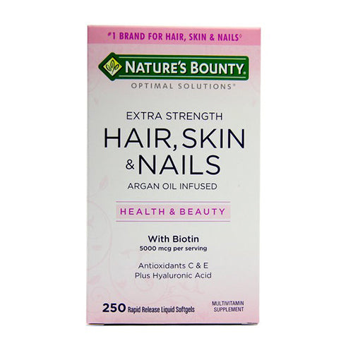 Nature's Bounty, Hair, Skin and Nails, 250 Rapid Release Liquid Softgels
