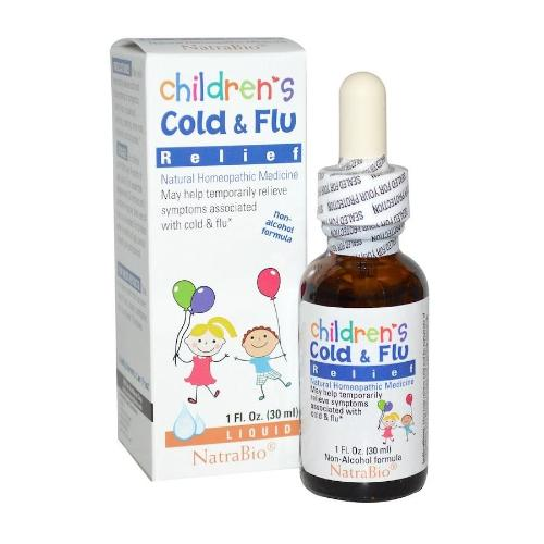 NatraBio, Children's Cold & Flu Relief, 1 floz (30ml)