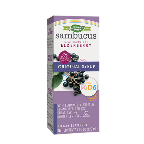 Nature's Way, Sambucus For Kids, Standardized Elderberry, Original Syrup, 4 floz (120ml)