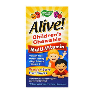 Nature's Way, Multi-Vitamin, Children's Chewable, Orange+Berry Fruit Flavors, 120 Chewable Tablets