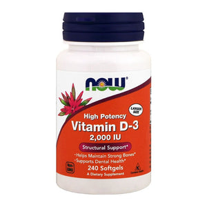 Now Foods, Vitamin D3 High Potency, 2,000 IU, 240 Softgels