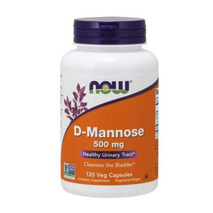 Now Foods, D-Mannose, 500 mg, 120 Veggie Capsules