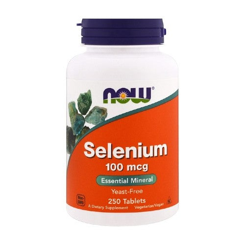 Now Foods, Selenium, Yeast Free, 100 mcg, 250 Tablets