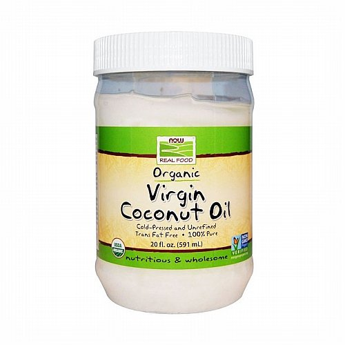 Now Foods, Now Foods, Real Food, Organic Virgin Coconut Oil, 20 fl oz (591 ml)