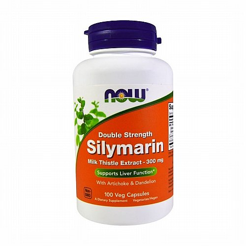 Now Foods, Now Foods, Silymarin, Milk Thistle Extract with Artichoke & Dandelion, Double Strength, 300 mg, 100 Veg Capsules