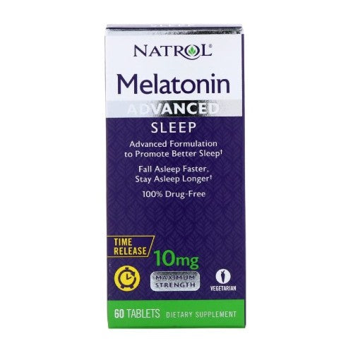 Natrol, Advance Sleep, Melatonin Time Release, 10 mg, 60 Tablets