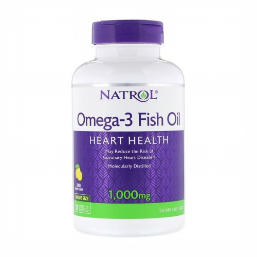 Natrol, Natrol, Omega-3 Fish Oil, Natural Lemon Flavor, 1,000 mg, 150 Softgels