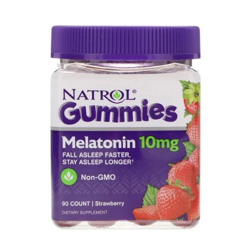 Natrol, Natrol, Gummies, Melatonin, Strawberry, 10 mg, 90 Count