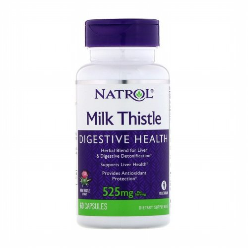 Natrol, Milk Thistle , 525 mg, 60 Capsules