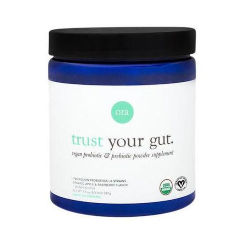 Ora, Trust Your Gut, Vegan Probiotic & Prebiotic Powder Supplement 20 Billion Organic Apple & Raspberry Flavor (1 Month Supply), 225g