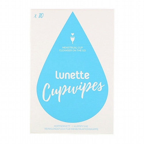 Lunette, Cupwipe, Menstrual Cup Cleanser On The Go, 10 Wipes