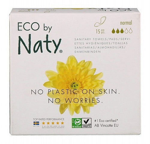 Naty, Thin Pads, Normal, 15 Eco Pieces