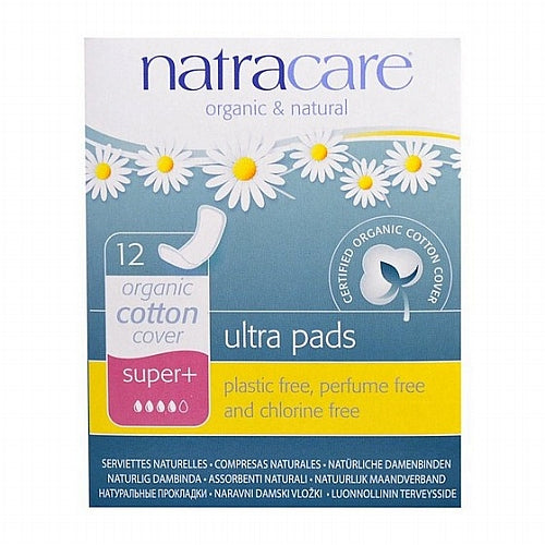 Natracare, Ultra Pads, Organic Cotton Cover, Super+, 12 Pads