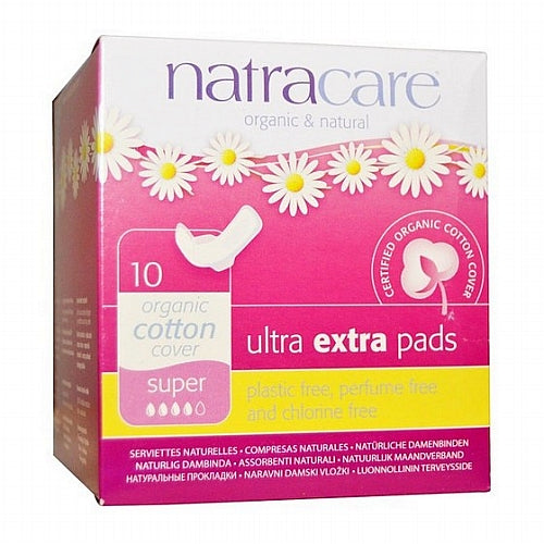 Natracare, Organic & Natural Ultra Extra Pads, Super, 10 Pads