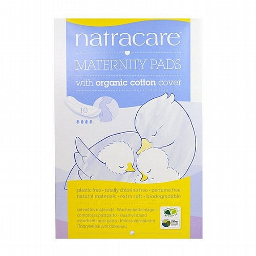 Natracare, Maternity Pads with Organic Cotton Cover, 10 Pads