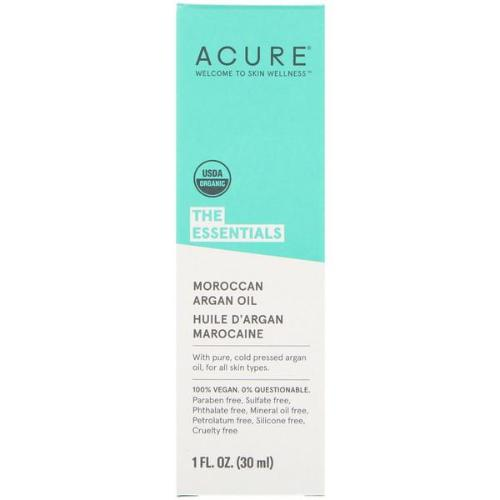 Acure, The Essentials, Moroccan Argan Oil, 1 floz (30ml)