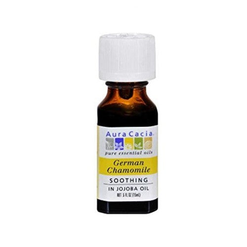 Aura Cacia, Pure Essential Oil, German Chamomile, 0.5 fl oz (15 ml)