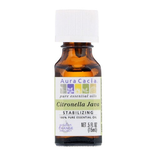 Aura Cacia, Pure Essential Oil, Citronella, 0.5 fl oz (15 ml)