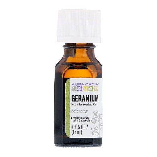 Aura Cacia, Pure Essential Oil, Geranium, 0.5 fl oz (15 ml)