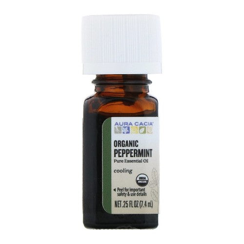 Aura Cacia, Organic, Peppermint, 0.25 fl oz (7.4 ml)