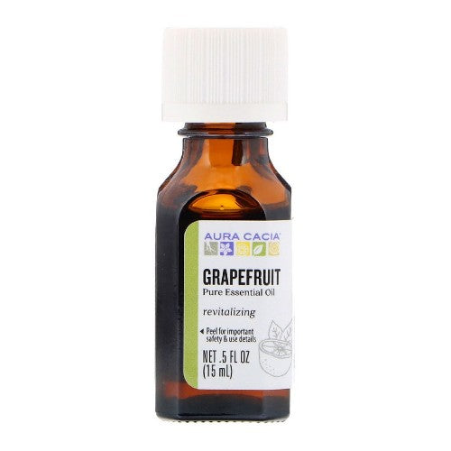 Aura Cacia, Pure Essential Oil, Grapefruit, 0.5 fl oz (15 ml)