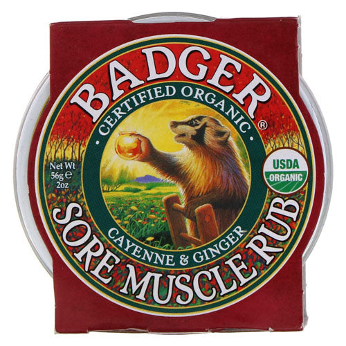 Badger Company, Organic, Sore Muscle Rub, Cayenne & Ginger, 2 oz (56g)
