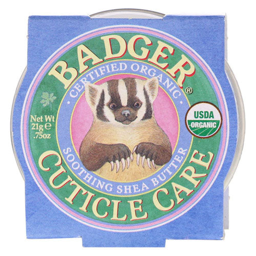 Badger Company, Organic Cuticle Care, Soothing Shea Butter, .75 oz (21g)