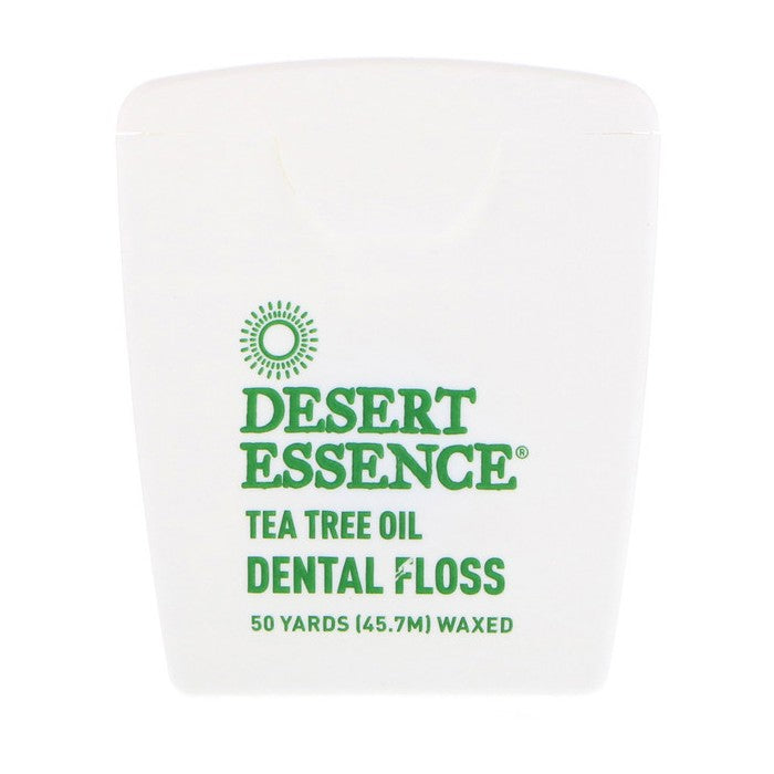 Desert Essence, Tea Tree Oil Dental Floss, Waxed, 50 Yds (45.7m)