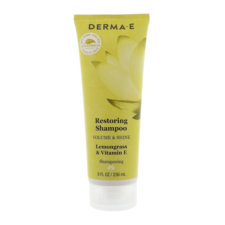 Derma E, Restoring Shampoo, Volume & Shine, Lemongrass & Vitamin E, 8 fl oz (236ml)
