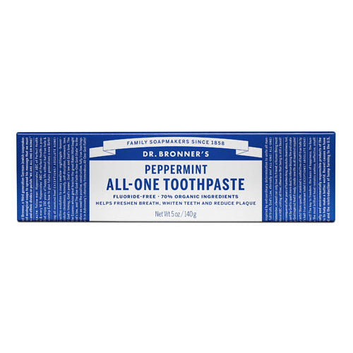 Dr.Bronner's, Peppermint All-one Toothpaste, 5 Oz (140g)