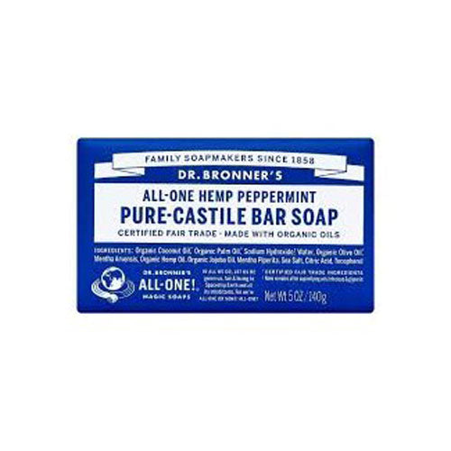 Dr.Bronner's, All-One Hemp Pure-Castile Soap Peppermint, 5 Oz (140g)
