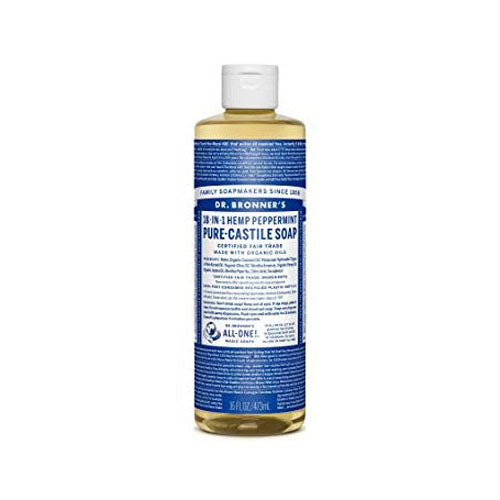 Dr.Bronner's, 18-IN-1 Pure-Castile Liquid Soap Peppermint, 16 oz (473ml)
