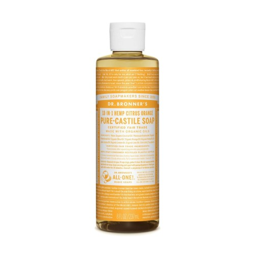 Dr.Bronner's, Pure Castile Liquid Soap Citrus Orange, 8 Fl oz (237ml)
