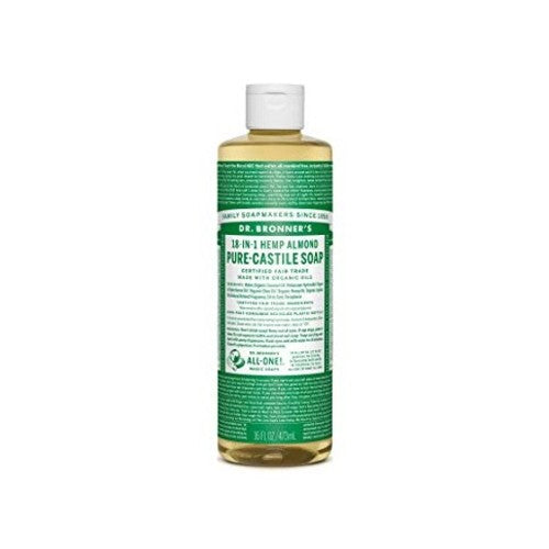 Dr.Bronner's, Pure Castile Liquid Soap with Almond Oil, 16 fl oz (473ml)