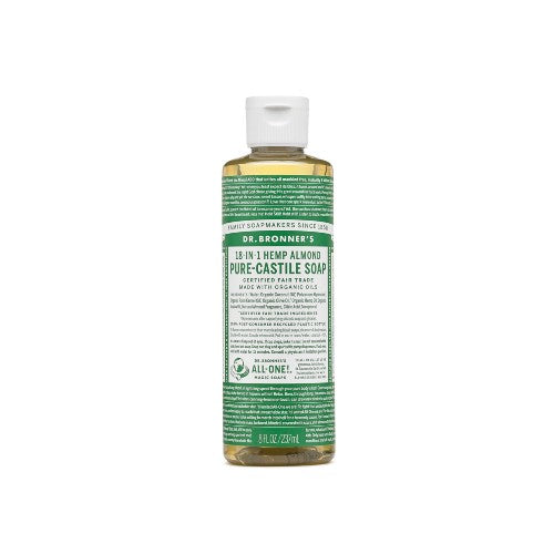 Dr.Bronner's, Pure Castile Liquid Soap with Almond Oil, 8 Fl oz (237ml)