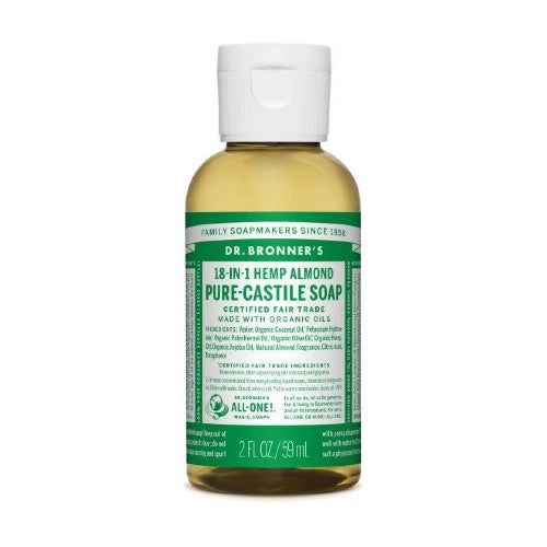 Dr.Bronner's, Pure Castile Liquid Soap with Almond Oil, 2 Fl oz (59ml)