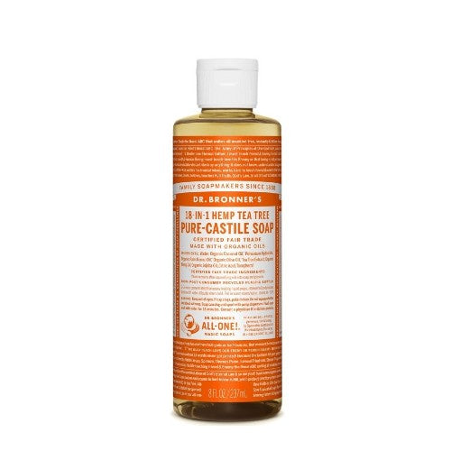 Dr.Bronner's, Pure Castile Liquid Soap with Hemp Tea Tree, 8 Fl oz (237ml)
