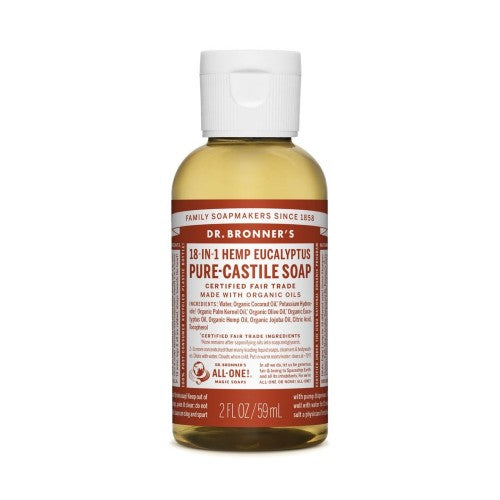 Dr.Bronner's, Pure Castile Liquid Soap Eucalyptus, 2 Fl oz (59ml)