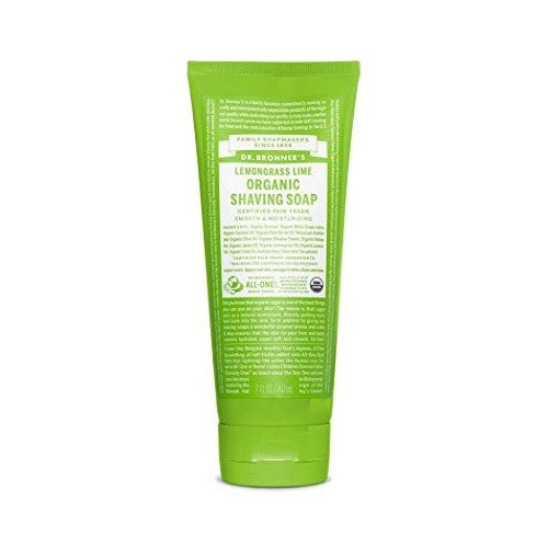 Dr.Bronner's, Organic Shaving Soap Lemongrass Lime, 7 Fl oz (207ml)