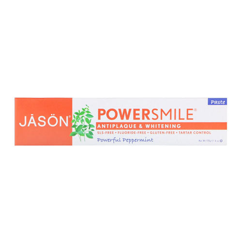 Jason Natural, PowerSmile, Whitening Paste, Powerful Peppermint, 6 oz (170g)
