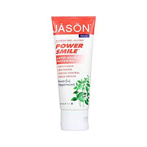 Jason Natural, Power Smile, Whitening Paste, Powerful Peppermint, 3 oz (85g)