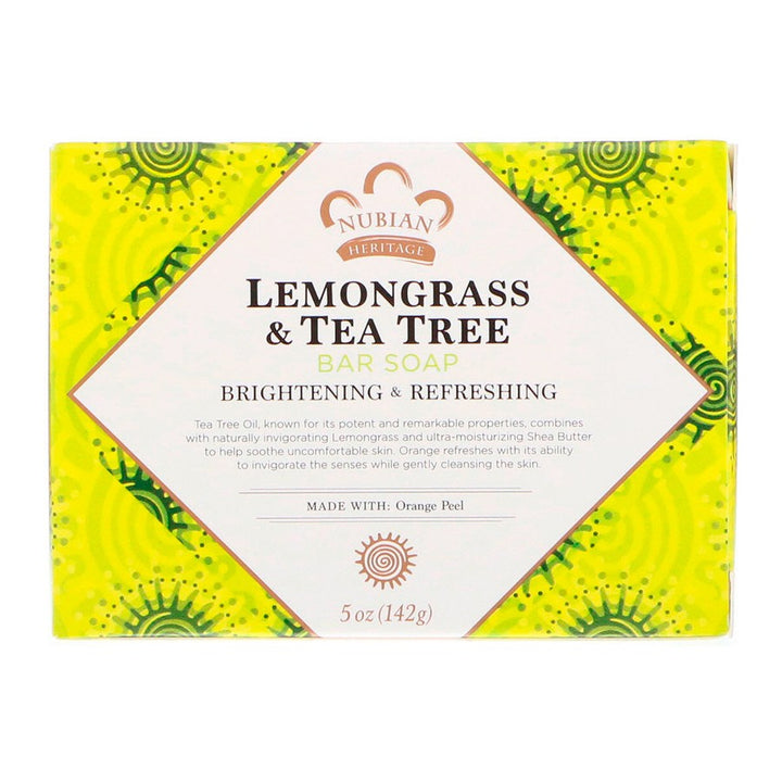 Nubian Heritage, Lemongrass & Tea Tree Bar Soap, 5 oz (142g)