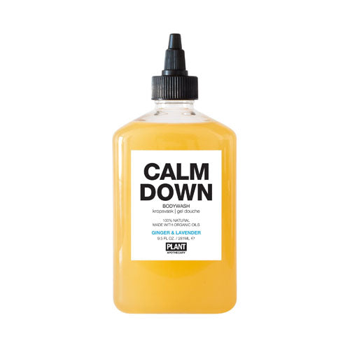 PLANT Apothecary, Calm Down Organic Body Wash, Ginger & Lavender Essential Oils, 9.5 Oz (281ml)