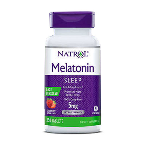 Natrol, Sleep, Melatonin 5 mg., 250 Fast Dissolve Tablets
