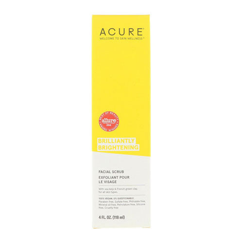 Acure, Brilliantly Brightening, Facial Scrub, 4 floz (118ml)