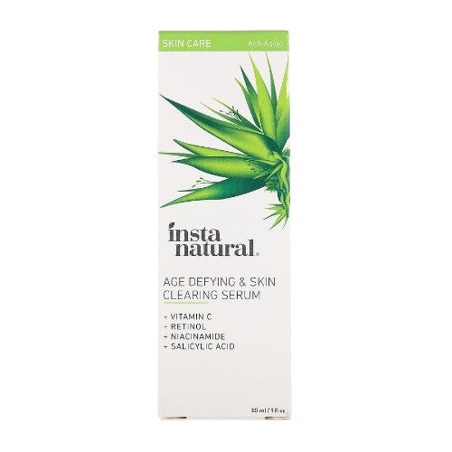 InstaNatural, Age-Defying & Skin Clearing Serum, Anti-Aging, 1 floz (30ml)