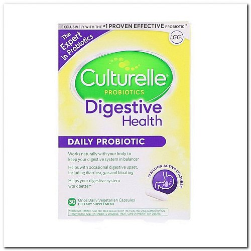Culturelle, Digestive Health, Daily Probiotic, 30 Once Daily Vegetarian Capsules