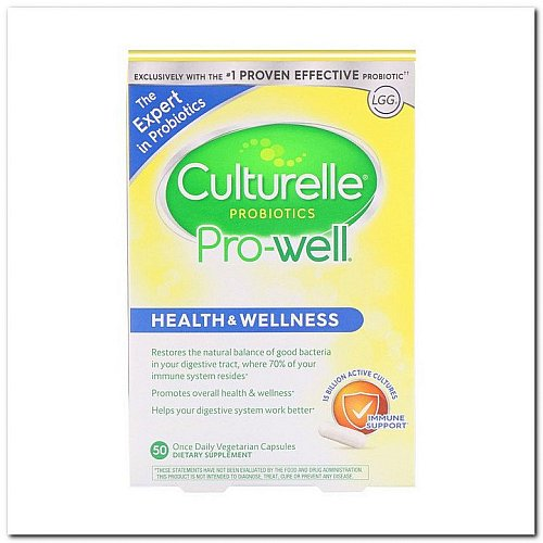 Culturelle, Probiotics, Pro-Well, Health & Wellness, 50 Once Daily Vegetarian Capsules