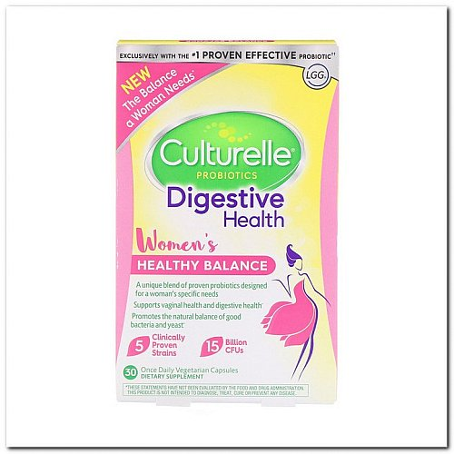 Culturelle, Probiotics, Digestive Health, Women's Healthy Balance, 30 Once Daily Vegetarian Capsules