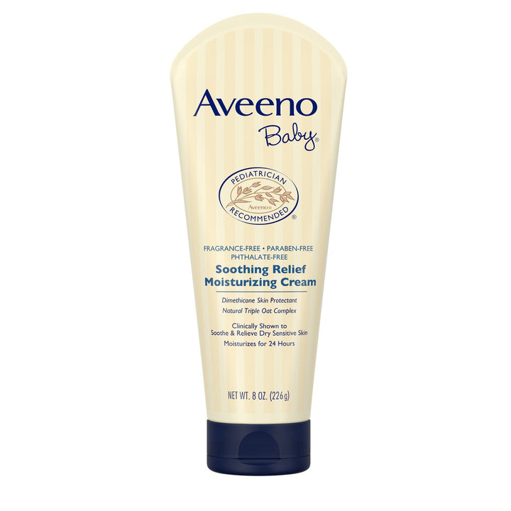 Aveeno Baby, Soothing Relief Moisturizing Cream, Fragrance-Free, 8 oz (226 g)